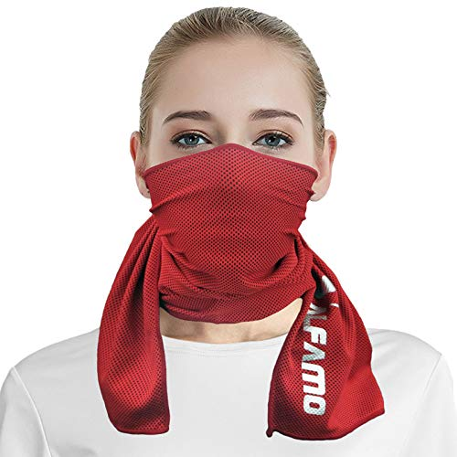 Cooling Towel for Neck and Face (Red, M) Cooling Rag Cool Towels for Sports Chilly Pad Wet Towel Cold Towel Cooling Neck Towel Cooling Cloth Stay Cool Towel Neck Towels to Keep You Cool Down
