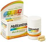 MULTICENTRUM Complemento Alimenticio con 13 Vitaminas, 8 Minerales, Ginseng y Ginkgo Biloba, para Adultos a partir de 18 años - 30 Comprimidos