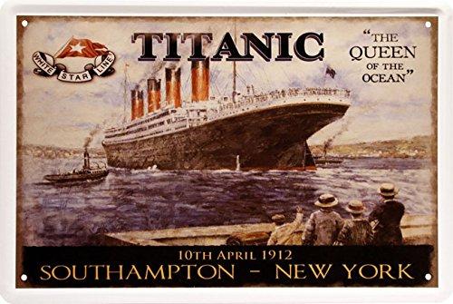 Titanic South Hampton - New York Blechschild 20 x 30 cm Retro Blech 566