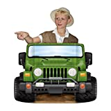 Beistle Monster Car Plastic Jungle Safari Jeep Photo Prop Backdrop For Birthday Party Supplies, Multicolored