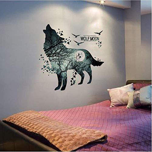 Legname Lupo Adesivo murale Vinile Fai da te Animale Adesivo Casa Camera per bambini Baby Baby Camera da letto Soggiorno Decorazione 90 * 99Cm