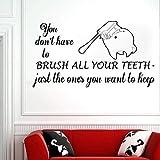 Etiqueta De La Pared Clínica Dental Etiqueta De La Pared Dentista Sonrisa Etiqueta De La Pared Dental S Dientes Clínica Ventana Decoración De Dientes Baño Para El Hogar 67 * 42Cm