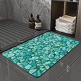 La Alfombra de baño es Suave y cómoda, Absorbente, Antideslizante,Guijarro Acuario Textura Naturaleza Resumen Roca Grava Al Aire Libre NaturalApto para baño, Cocina, Dormitorio (50x80 cm)