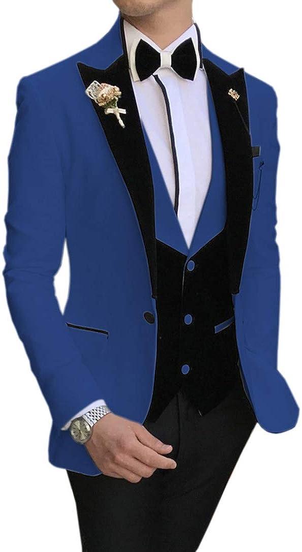 Many Popular brand popular brands MoranX Casual Men's Suits Prom Tuxedos 3 Velvet Pieces Fit Slim