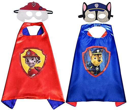 Disfraces de la Patrulla Canina para niños Miotlsy Capas de la Patrulla Canina Máscaras de Fiesta de la Patrulla Canina Perro Cosplay