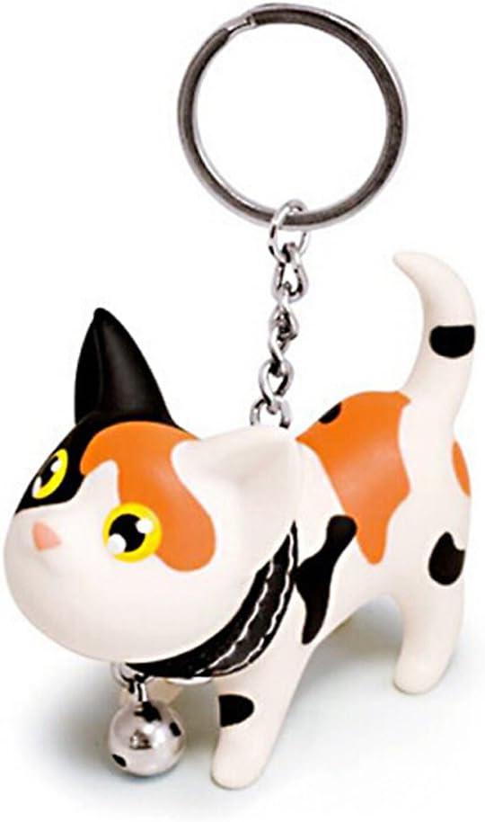 JOYJULY Cat Kitten Keyrings Key Chains for Car Keys Kawaii Adorable Bag Pendant Toy,Gift Idea for Girls, Women and Men