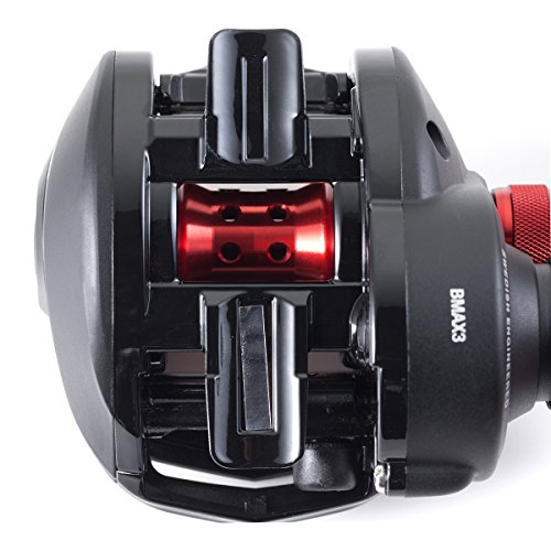 Abu Garcia 1365366 Black Max Low Profile Reel, 6.4: 1 Gear Ratio, 5 Bearings, 26' Retrieve Rate, 18Lb Max Drag, RH, Boxed