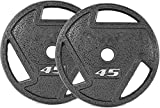 2-Inch Olympic Grip Plate Weight Plate for Strength Training and Weightlifting