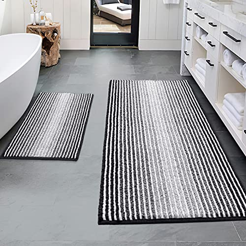 Bathroom Rugs and Mats Sets, 2 Piece Thick Absorbent...