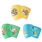 Aniwon 3 Paare Baby-knieschoner Schön Elastisch Atmungsaktiv Toddle Knieschoner Baby Beinwärmer Kriechende Kniekappe