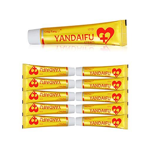 10 Piece YDF Antibacterial Cream Redness Itchiness Eczema Rosacea Cutitis Skin Health Saver Chinese Herbal Cream