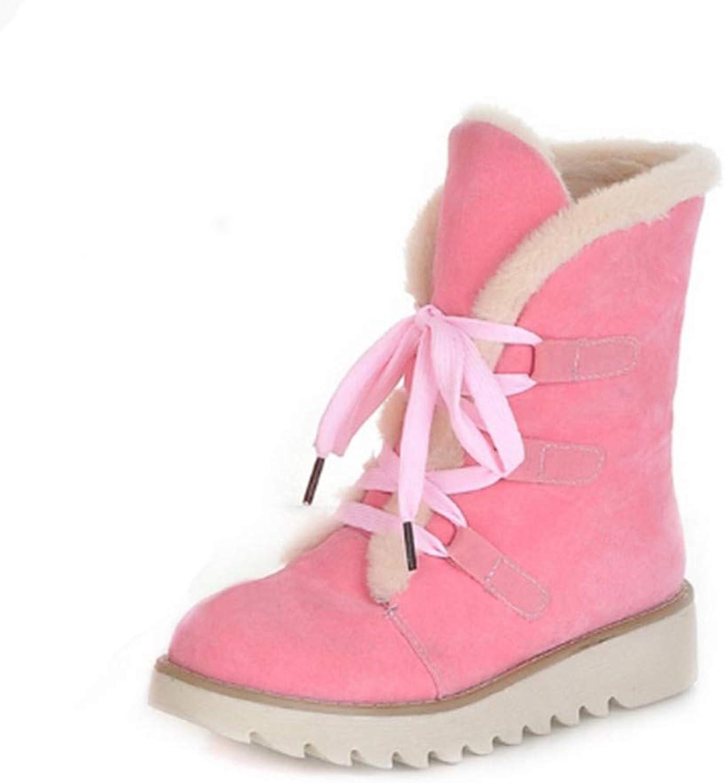FMWLST Stiefel Damenschuhe Damen Plus Warme Flache Schuhe Winter Damenschuhe Schneestiefel  | Langfristiger Ruf