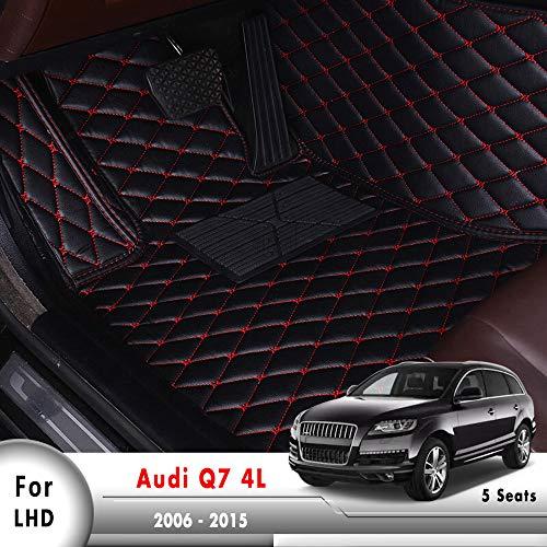 HCDSWSN Autoplanen Innenzubehör LHD Fußmatten, Für Audi Q7 4L (5 Sitze) 2006 2007 2008 2009 2010 2011 2012 2013 2014 2015