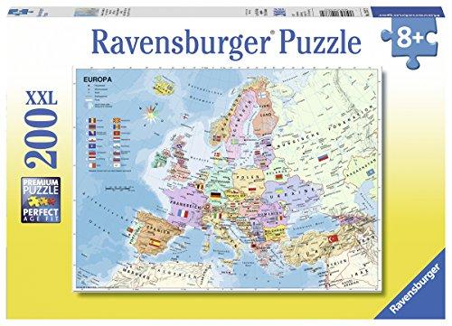 Ravensburger Kinderpuzzle 12837 - Politische Europakarte - 200 Teile