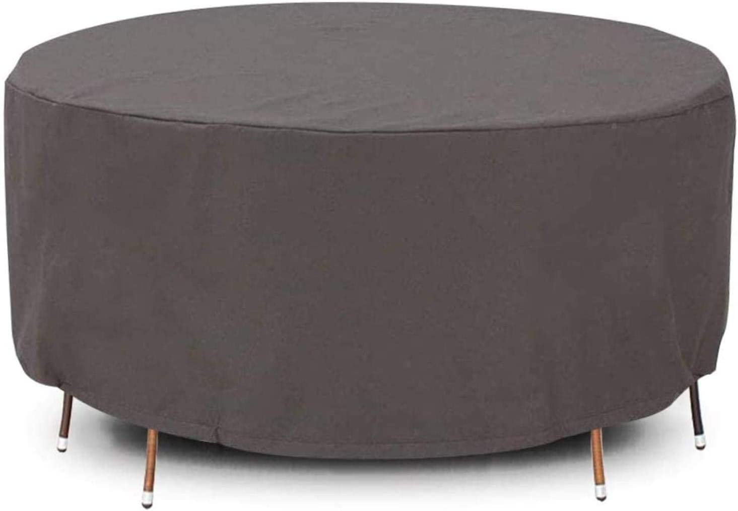 Amazon Com Baofi Round Patio Furniture Cover 320x105cm Garden Furniture Covers Patio Table Covers Patio Large Table And Chair Covers Outdoor Waterproof Windproof Drawstring With Hem Brown Home Kitchen