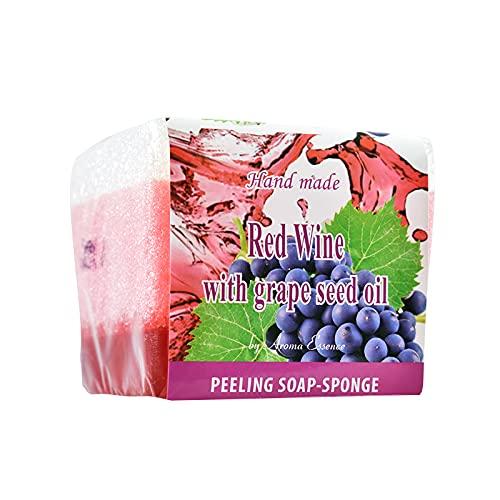 Jabon Peeling de Vino Tinto y Semilla de Uva