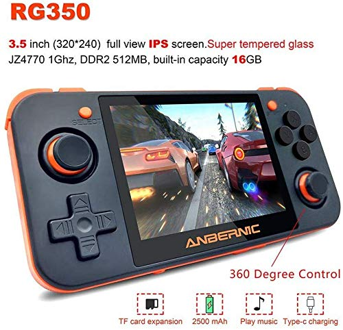 DigitCont Handheld Game Console, Retro Mini Game Player with 2500 Classic Game 2500mAh Rechargeable Battery 3.5 Inch IPS Screen Portable Video Game Console, Handheld Game Console