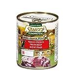 Stuzzy, Comida húmeda para Perros Adultos, Sabor Carne de Buey Fresca, preparación monoproteínica en paté - Total 4,8 kg (6 latas x 800 gr)