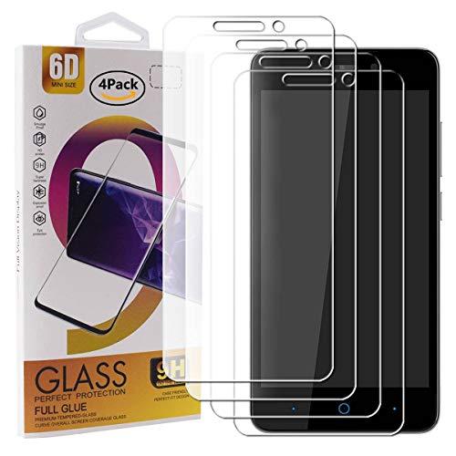 Guran 4 Paquete Cristal Templado Protector de Pantalla para ZTE Blade A452 Smartphone 9H Dureza Anti-Ara?azos Alta Definicion Transparente Película