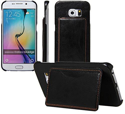 maxbuy Galaxy S6Edge Case, su Misura Ecopelle Custodia Protettiva per Samsung Galaxy S6Edge