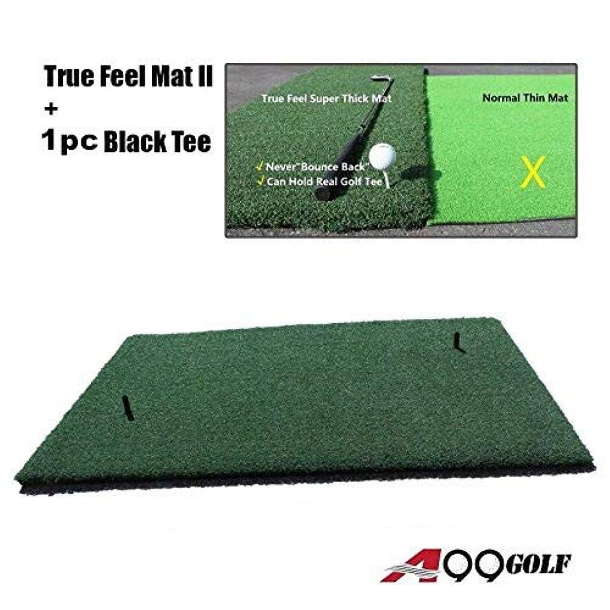 起きているイライラするシーフードA99 ゴルフ トゥルーフィール 超厚手 ドライビング チッピングマット 59インチ x 39.5インチ フォームパッドなし