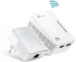 TP-Link TL-WPA4220 KIT - 2 Adaptadores de Comunicación por Línea Eléctrica (WiFi AV 600 Mbps, PLC con WiFi, Extensor, Repetidores de Red, Amplificador y Cobertura Internet, 3 Puertos, Cable Ethernet)