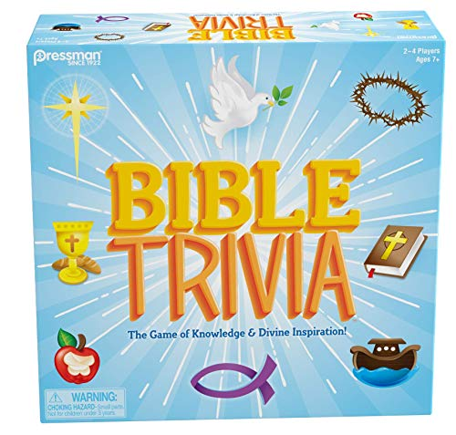 Bible Trivia by Pressman - The Game of Knowledge & Divine Intervention, Multi Color