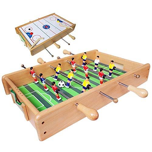 Luorizb Tragbare Massivholz-Fußball Hegemony Eishockey Tabelle Fußball-Tabelle Fußball-Eltern-Kind-Interactive-Familien-Spiel-Spielzeug Jungen-Geschenk