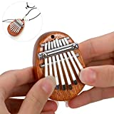 Elejolie 8 Key Kalimba Mini Thumb Piano,Finger Piano Finger Harp Portable Musical Instruments Gift for Kids Adult with Pendant
