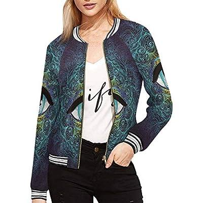 INTERESTPRINT Women's Geometry Symbol with All Seeing Eye Jacket Zipper Coat Outwear Sports Blouse XXL by INTERESTPRINT