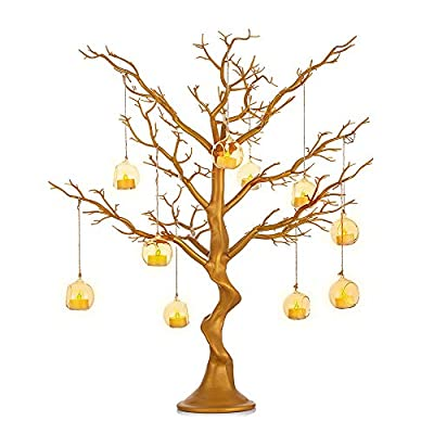 Nuptio Artificial White Tree 76cm Height Wedding Centerpieces for Tables for Wedding Banquet Birthday Party Event Tabletop Decorations
