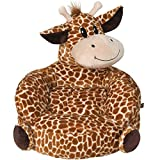 Children's Plush Giraffe Character Chair for Kids and Toddlers