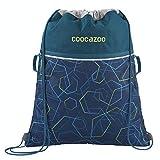 """Coocazoo Sportbeutel RocketPocket """"Laserbeam Blue"""", blau, mit Reißverschlussfach und Kordelzug, reflektierende Elemente, Schlaufen zur Befestigung am Schulrucksack, Jungen, ab 5. Klasse, 10 Liter"""