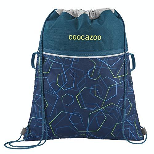 """Coocazoo Sportbeutel RocketPocket """"Laserbeam Blue"""", blau, mit Reißverschlussfach und Kordelzug, reflektierende Elemente, Schlaufen zur Befestigung am Schulrucksack, für Jungen, 10 Liter"""