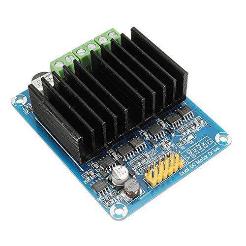FEIYI Otro módulo de placa 50A Dual-Channel H módulo controlador del motor del puente del robot chasis Servo para Arduino - Productos que funcionan con placas Arduino oficiales