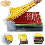 Nifogo Organiseur de Vêtements Placards - Chemise Fichier Rangements - Taille Standard Organiseur pour Filetage intérieur Espace t-Shirt Pliable de Placard tiroir (50 Pieces)