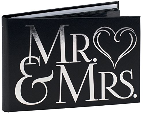 Malden International Designs Wedding Celebrations Mr amp Mrs Brag Book Photo Album 404x6 White