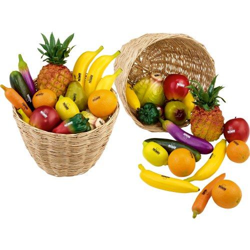 Nino Percussion VE36-NINO536 Fruit en fruit shaker assortiment 36-delig in 2 manden