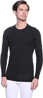 قميص داخلي بتصميم سادة واكمام طويلة ورقبة دائرية للرجال من دايس