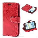 Mulbess Funda Samsung Galaxy S3 [Libro Caso Cubierta] [Vintage de Billetera Cuero de la PU] con Tapa Magnética Carcasa para Samsung Galaxy S3 / S3 Neo Case, Vino Rojo