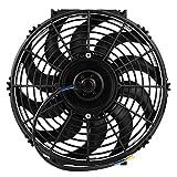 Ventilador de refrigeración del motor, Fydun ventilador universal de 12 pulgadas para automóvil, empuje y extracción, ventilador de refrigeración del motor eléctrico de 12 V con kit