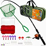Play22 Fishing Pole For Kids - 40 Set Kids Fishing Rod Combos - Kids Fishing Poles Includes Fishing...