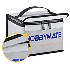 【Made of Real fireproof Material】Search youtube for more info of Hobbymate Lipo Safe Bag, you will know this Hobbymate Lipo Safe Bag Does the Job and Protect you from Potential Lipo Fire 【FIREPROOF AND MOISTURE PROOF BAG】Made of silicon coated fiberg...