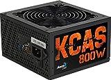 Aerocool KCAS, fuente alimentación PC 800W, 80Plus Bronze, eficiencia 85%, PSU