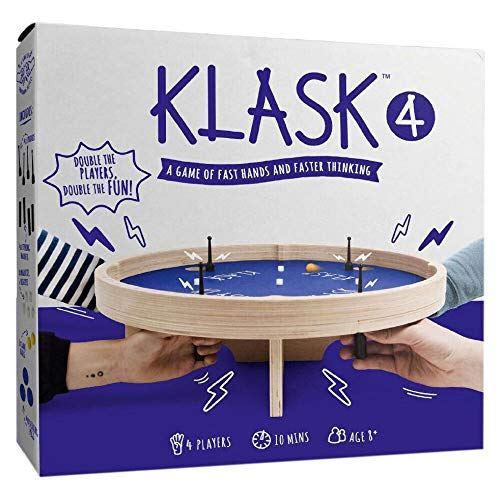 GAMEFACTORY 646240 Klask 4 Geschicklichkeitsspiel, Mehrfarbig