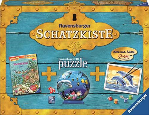 Ravensburger Spiel und Spaß - Set Rätzeln , Puzzle , Malen nach Zahlen Bastelkiste 3 Teile