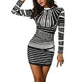 ESAILQ Damen V Ausschnitt A-Linie Kleid Träger Rückenfreies Kleider Sommerkleider Strandkleider Knielang(S,Grau)