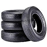Set of 4 Trailer Tires 205 75D15 205/75/15 Trailer Tires 6PR Bias 205 75 15 Tires Load Range C 107N …