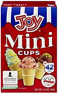 Joy Mini Cups Miniature Ice Cream Cones For Kids, Desserts, Cupcake Cones, Cake Pops 42 Count (1 Box/42 cones) - SET OF 4