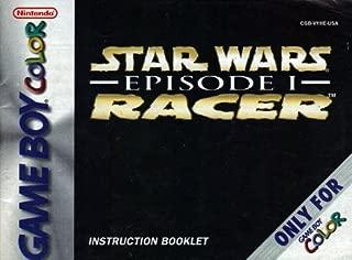 Star Wars Episode 1 Racer GBC Instruction Booklet (Nintendo Game Boy Color Manual Only) (Nintendo Game Boy Color Manual)